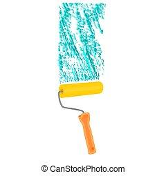 צבע מוט גלילי, paintroller