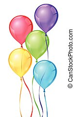 צבע, מפלגה, וקטור, בלונים, יום הולדת