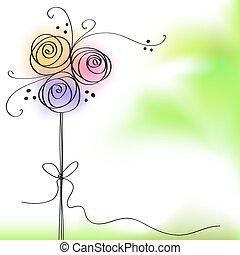 צבע, עלה, flowe, כרטיס של דש