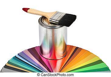 צבע, צבע מיברשת, דוגמאות, כוון
