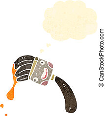 צבע, ציור היתולי, צחצח, ראטרו