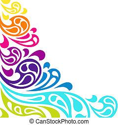 צבע, רקע., תקציר, התז, גלים