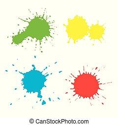 צבע, שונה, קבע, צבעים, נקודות