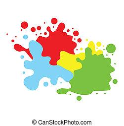 צבע, שכשוכים, רקע