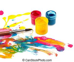 צבע, תקציר, כאב, רקע