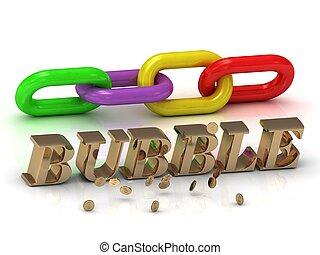 צבע, bubble-, מואר, מכתבים, שלשל, חריתה