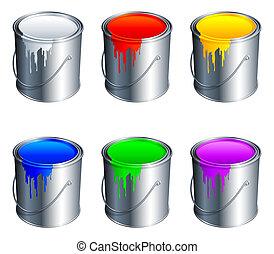 צבע, buckets.