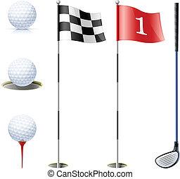 ציוד, קבע, גולף
