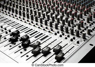 ציוד של הקלטה, אודיו