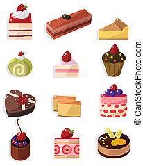 ציור היתולי, איקון, עוגה