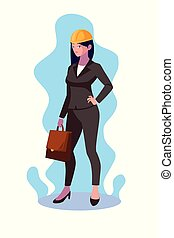 ציור היתולי, אישה, עצב, avatar, הנדס