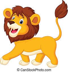 ציור היתולי, אריה, ללכת