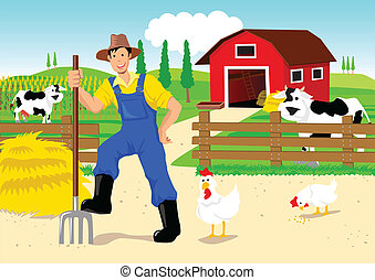 ציור היתולי, חקלאי