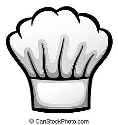 ציור היתולי, כובע, וקטור, מסעדה, טבח