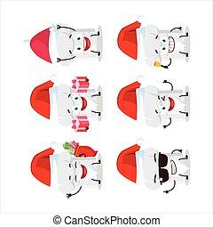 ציור היתולי, כלאאס, טבח, סנטה כובע, אופי, emoticons