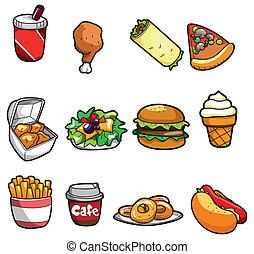ציור היתולי, מהיר, איקון, אוכל