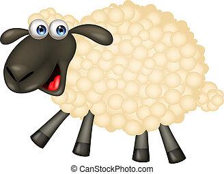 ציור היתולי, sheep, חמוד