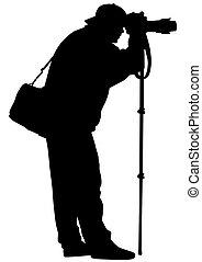 צילום, רקע לבן, איש