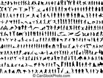 צלליות, בן אנוש, מאות