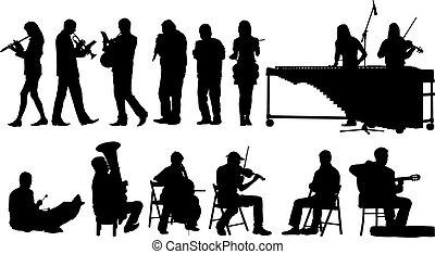 צלליות, מוסיקאיים