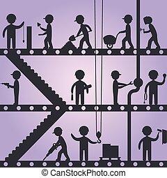 צלליות, עובד של בניה