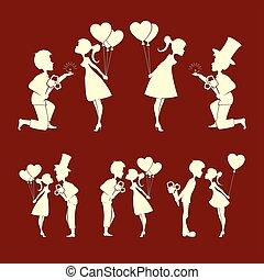 צלליות, קבע, אהוב, זוגות