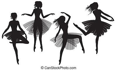 צלליות, ballet-dancers