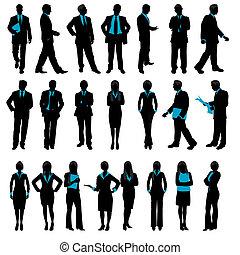 צללית, אנשים של עסק