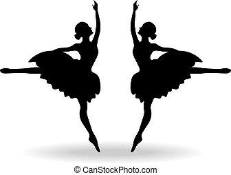 צללית, רקדנים של בלט, קבע