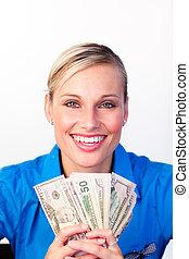 צעיר, כסף, אישת עסקים
