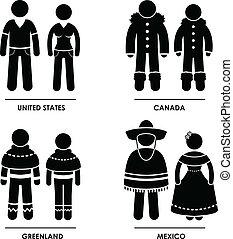 צפון אמריקה, בגדים, תלבושת