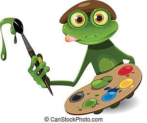 צפרדע, צייר