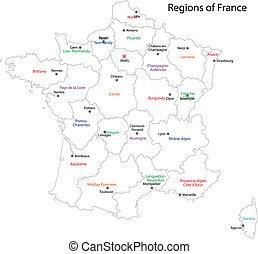 צרפת, מפה, תאר