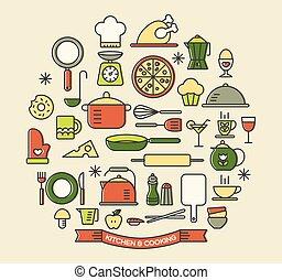 קבע, איקונים, צבע, בישול, סוגי אוכל, מטבח