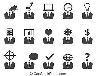 קבע, אנשים, רעיון, איקונים של עסק