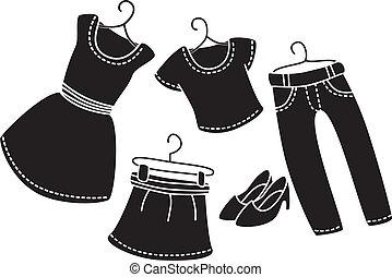 קבע, בגדים