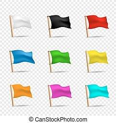 קבע, דגלים, ססגוני, איקון