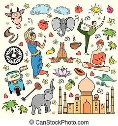 קבע, הודו, ציור היתולי, איקונים