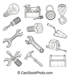 קבע, וקטור, כלים, ציור