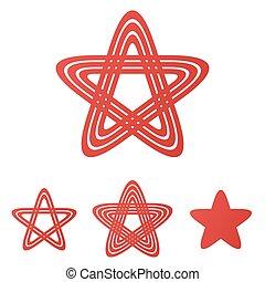 קבע, ככב, עצב, אדום, לוגו, ענוב