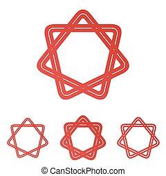 קבע, ככב, עצב, ענוב, לוגו, קו, אדום