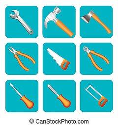 קבע, כלים, ראה, דוגמה, איקון