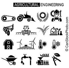 קבע, להנדס, עצב, חקלאי, חקלאות, איקון