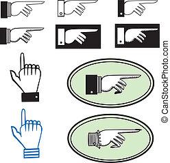 קבע, להצביע, ידיים