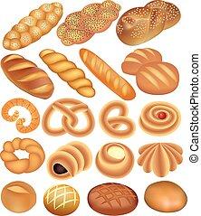 קבע, לחם של חיטה, לבן