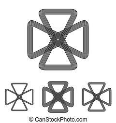קבע, מדע, עצב, לוגו, קו, ענוב