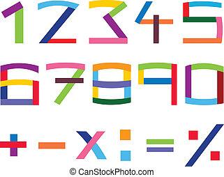 קבע, מספר, צבעוני