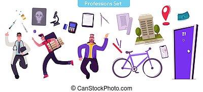 קבע, מקצועות, אופי, וקטור, דוגמה