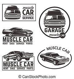 קבע, סמל, מכונית, וקטור, גדול, לוגו, שריר