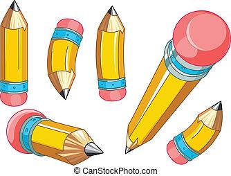 קבע, עפרונות